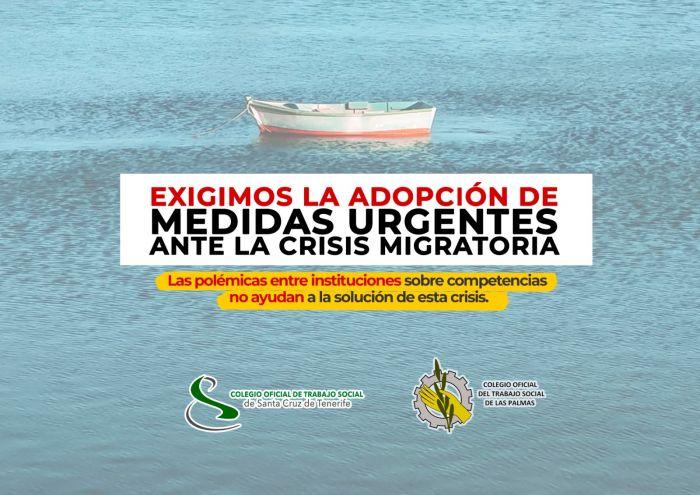 Medidas Urgentes ante la Crisis Migratoria - Colegio Oficial de Trabajo Social de Las Palmas