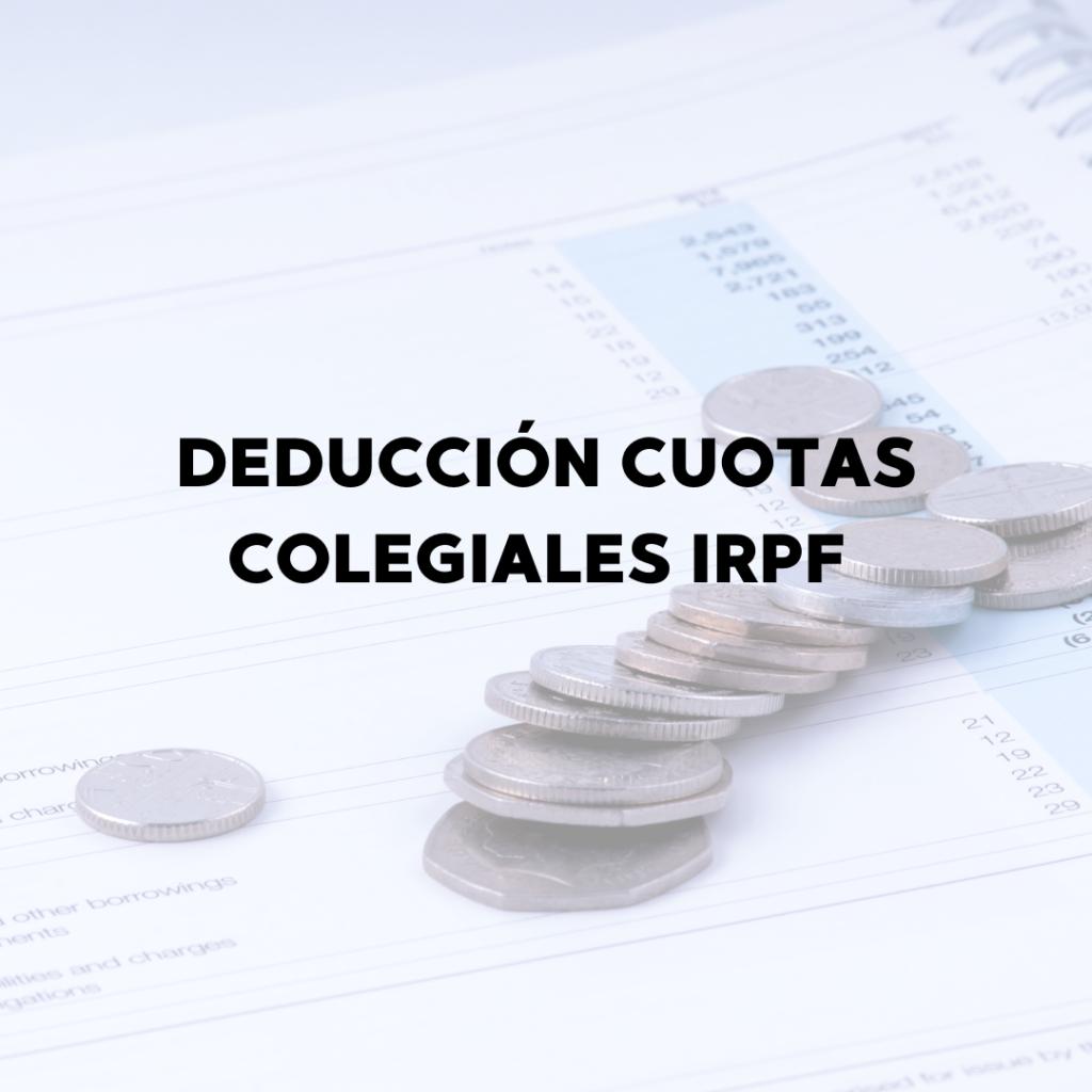 Deducción cuotas colegiales IRPF