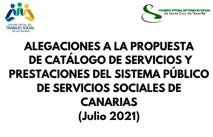 ALEGACIONES A LA PROPUESTA DE CATÁLOGO DE SERVICIOS Y PRESTACIONES DEL SISTEMA PÚBLICO DE SERVICIOS SOCIALES DE CANARIAS (3)